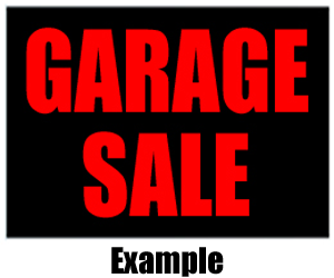 Garage Sale Example 300x250